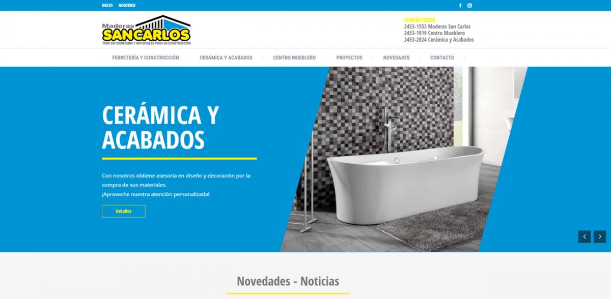 Proyectos TuWeb.CR - Maderas San Carlos